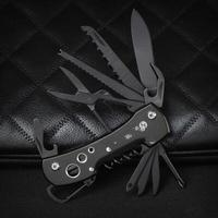 Titanium Black Multifunctional Swiss Knife Multi Purpose Army Folding Pocket Knife Outdoor Camping Survival EDC Tool
