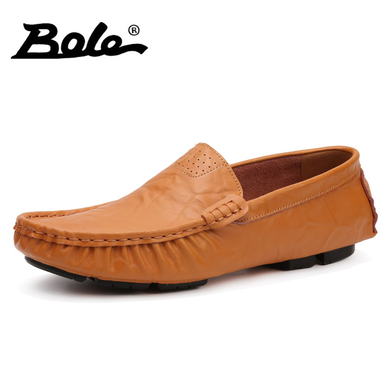 BOLE Big Size 37-48 Slip on Casual Men Loafers Spring and Autumn Mens Moccasins Shoes Men Flats Shoes New Style Comfort Footwear 2017 autumn fashion men pu shoes slip on black shoes casual loafers mens moccasins soft shoes male walking flats pu footwear