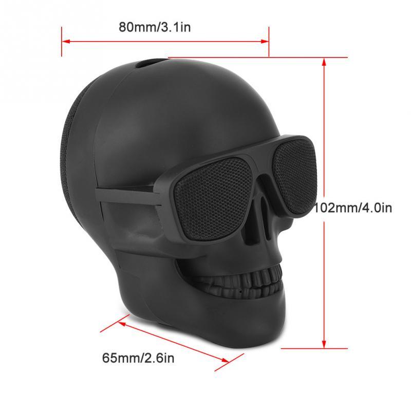 New Skull Head Speaker Portable Mini Wireless Bluetooth Stereo Speaker  4