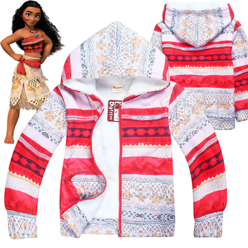 Kids Boys Moana Maui Tattoo Cosplay Costume Hooded Sweatshirt Halloween Hoodies  thickening thickness sweater suit for winter
