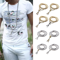 Full Steel 108 Buddha Beads Necklace Chain Outdoor Self Defense Hand Bracelet Chain EDC Personal Protection Multi Tools