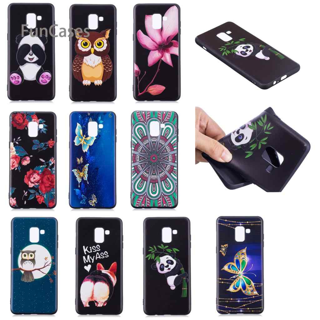 3D Panda Case For Coque Samsung Galaxy A8 Plus 2018 S8 Plus S9 S7 Edge Capa Capinhas For Galaxy Note 8 A3 2016 A5 J3 J5 J7 2017
