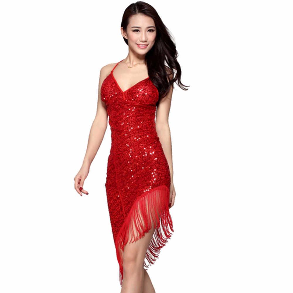 Новинка 2015! Платья для латино-американских танцев. В ассортименте красный/розовый/рерный/голубой цвета. Платья для сексуальных танцев, для ча-ча-ча/румбы/самбы/танго. Танцевальные блестящие платья с бахромой,