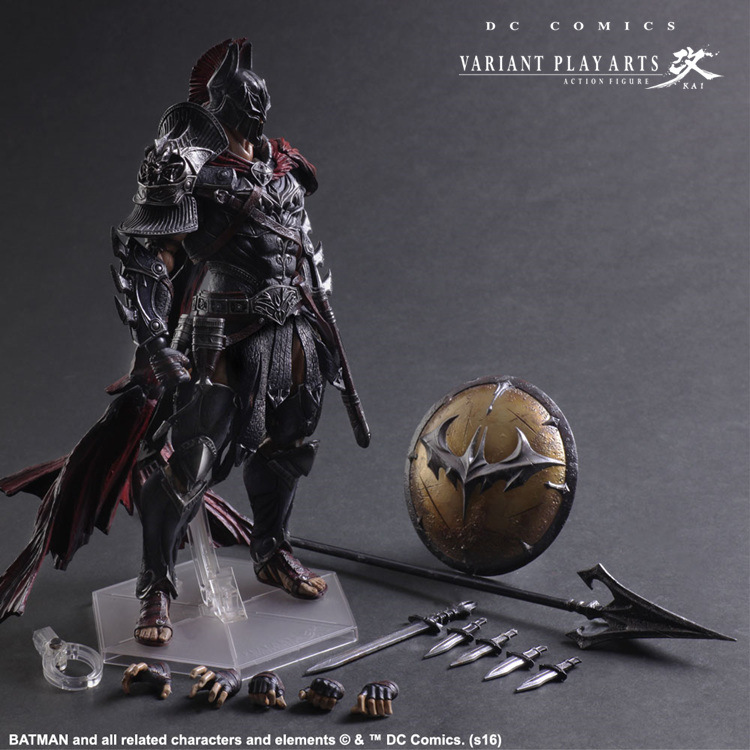 SAINTGI play arts Spartans Batman v Superman Dawn of Justice Arkham Knight Batman DC PVC 27CM Action Figure Collection Model Toy saintgi play arts the flash spartans batman v superman dawn of justice arkham dc pvc 25cm action figure collection model toy
