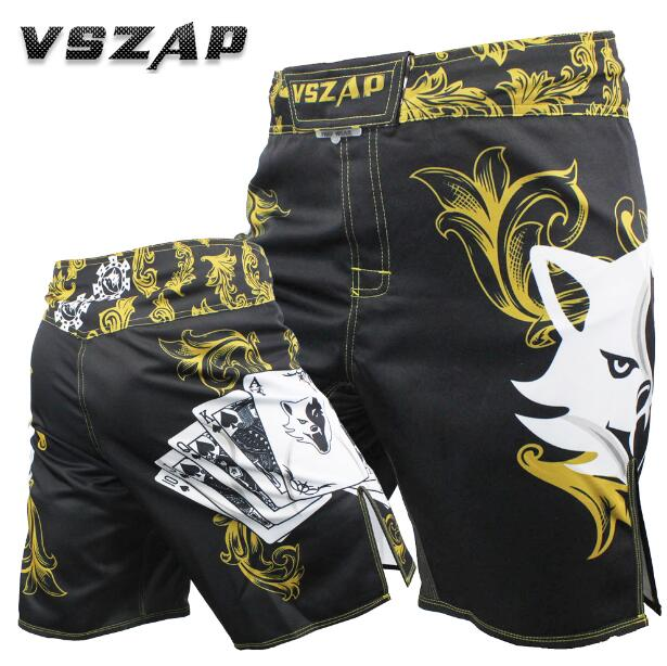 VSZAP POKER warrior POKER shorts MMA mixed martial arts fight sport fitness scattered running Wolf. ...