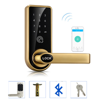 LACHCO Bluetooth Smart Phone Electronic Door Lock APP Control  Code  Mechanical Keys For Home Hotel Smart Entry  A18073AP