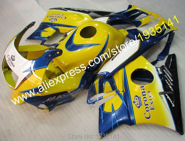 Hot Sales,Customized Fairing For Honda CBR600 F2 1991 1992 1993 1994 CBR 600 F2 91 92 93 94 CBR600 Corona Extra ABS Fairing Kit