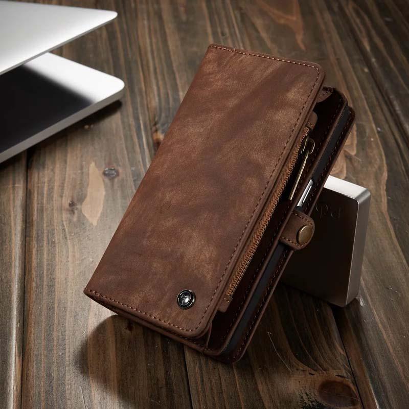 imágenes para Nuevo lujo case para samsung s7 teléfono tirón de la carpeta de cuero genuino casos bolsa de cuero coque para samsung galaxy s7 edge case js0046