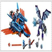 בלה 10596 Nexo אבירי הקרב של חימר Blaster אבן בניין צעצועים חינוכיים DIY לילדים 529 יחידות Legoe תואם