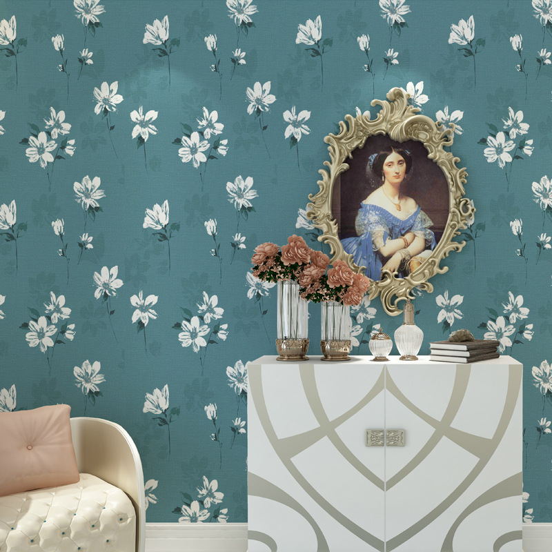 Beibehang Vintage Américain non-tissé papier peint jardin grande fleur AB salle de mariage chambre salon canapé TV fond mur