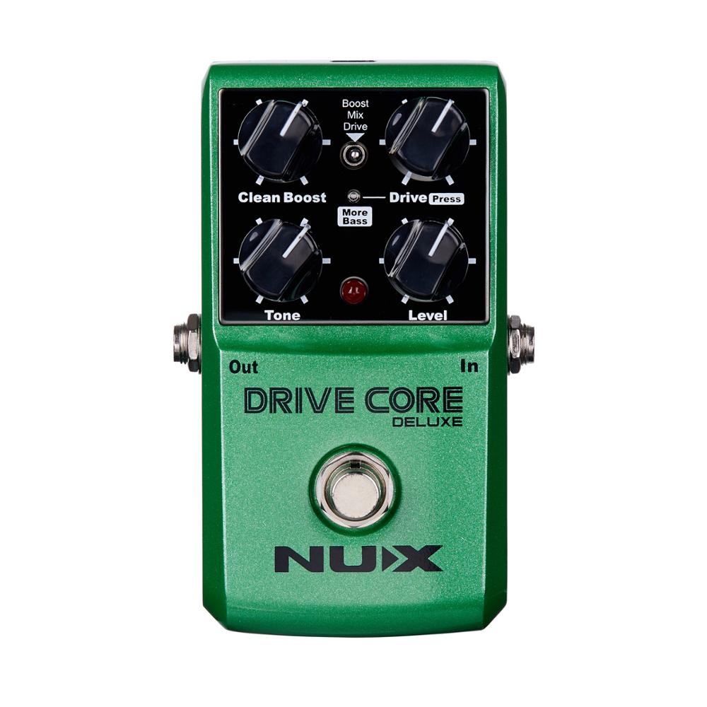 NUX Drive Core Deluxe Stompbox Upgrade Overdrive Electric Guitar Effects Pedal High Gain Clean Drive Booster Accessories new pegasus overdrive pedal guitar effects pedal high power drive booster tube overload stompbox true bypass free shipping