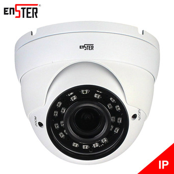 Enster Surveillance CCTV Cameras 1080P Waterproof Dome IP Cameras Varifocal lens 2.8-12mm 24pcs IR leds