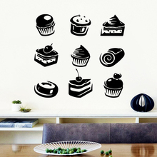 Modern fast food Removable Art Vinyl Wall Stickers Waterproof Decals