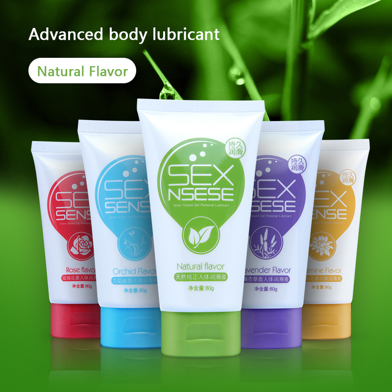 80g Sex Lubricants Sexual Floral Water Soluble Anal Grease Body Lubricating Gel Love Oil Sex Lube Sex Toys for Couples Men(China)