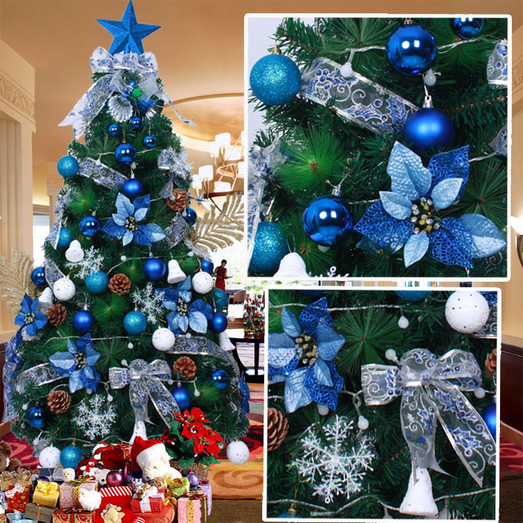 Green And Blue Decorated Christmas Trees