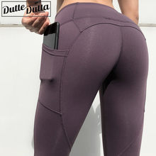 Women Sport Leggings Plus Size Yoga Pants With Pockets Jogging Workout Running Leggings Stretch Gym Tights Fitness Legging(China)
