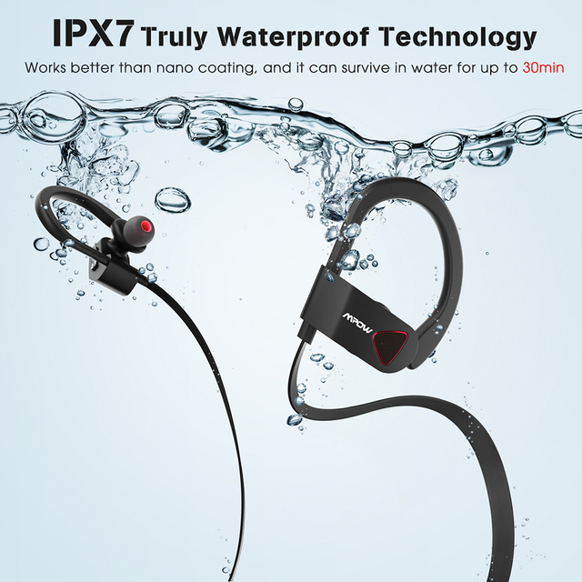 Mpow D8 Bluetooth Wireless Earphone IPX7 Structural Waterproof Sport Headphones In-Ear Earbuds With Mic For Gym PK Mpow Flame 1