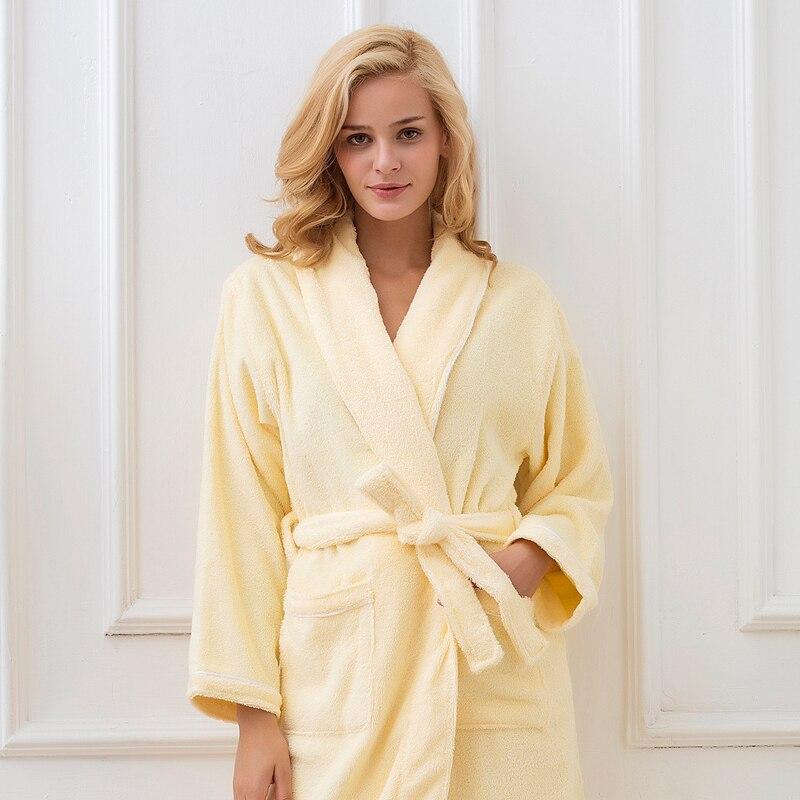 New Winter Bathrobe Women Thick Cotton Long Female Robe Good Quality Brand Bath Robe Plus Size Thick Women Nightwear Bathrobe
