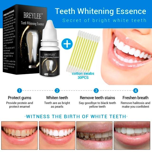 BREYLEE Teeth Whitening Essence Oral Hygiene Cleaning Serum White Gel Teeth Care Tooth Bleaching Dental Tools