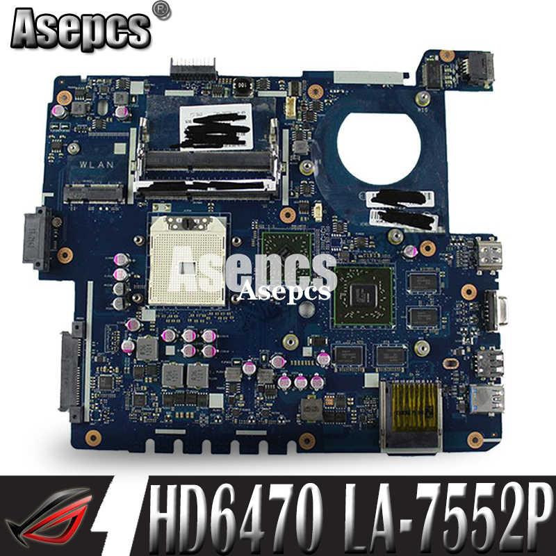 Asepcs usb مجلس + LA-7552P REV: 1.0 اللوحة الأم ل ASUS الكمبيوتر المحمول K53TA K53TK K53T K53 اختبار اللوحة الرئيسية الأصلية 1GB بطاقة الفيديو HD6470