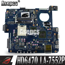 Placa base Asepcs usb + LA-7552P REV: 1,0 para ordenador portátil ASUS K53TA K53TK K53T K53 placa base original de prueba 1GB tarjeta de Video HD6470(China)