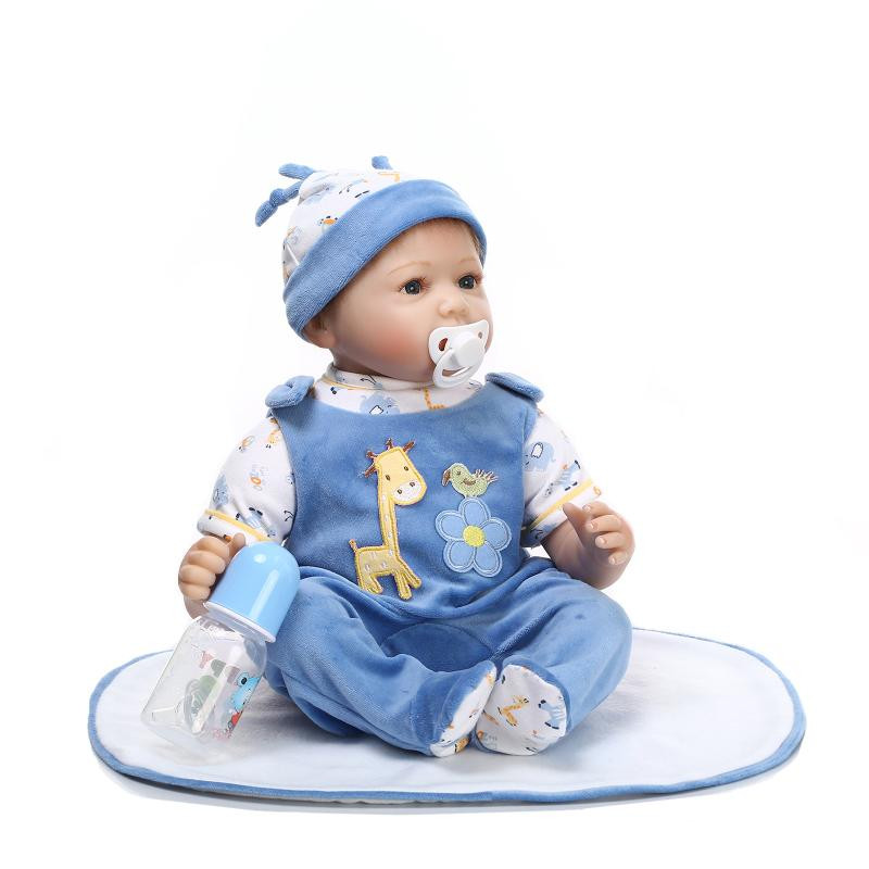 22 Inch Real Like Silicone Reborn Baby Twins Dolls Handmade Alive Dolls Lovely Newborn Babies For