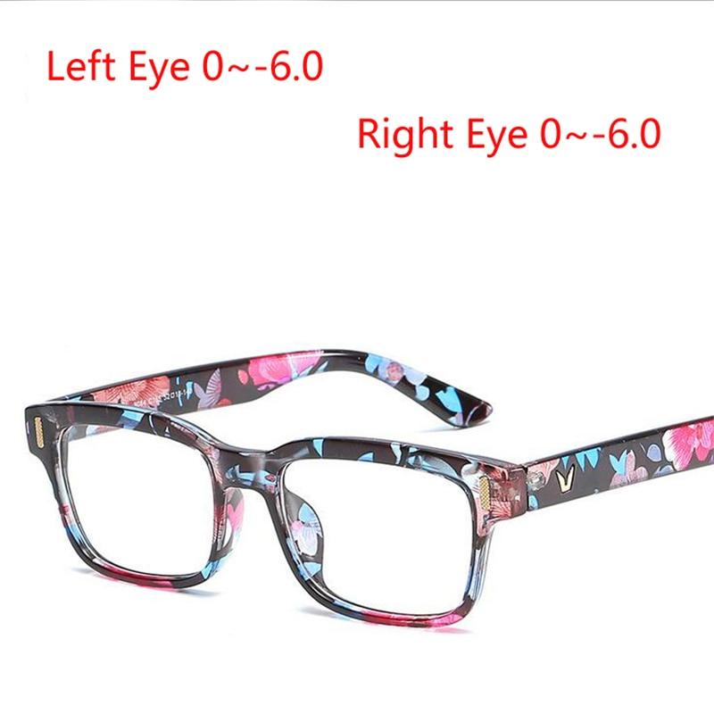 1.56 Asferische Lens Vrouwen Mannen Vierkante Bijziendheid Bril Met Graden Pc Frame Student Brillenglazen Bijziend Bril 100% Hoogwaardige Materialen