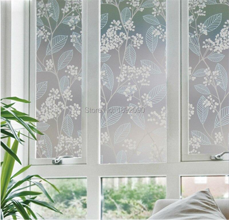 60200cm privacy stained decorative window film opaque glass sticker pegatinas para ventanas privacidad - Window Film Decorative