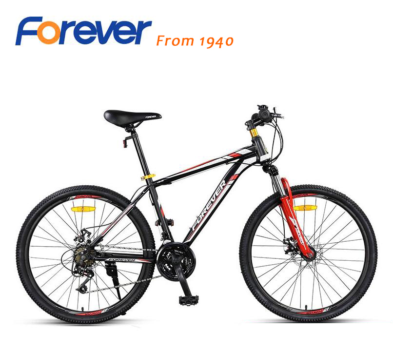 best price FOREVER 24 speed mountain bike 26 inch double disc brake bike For men and women free shipping 14 speed 20 inch wheels mountain bicycle double disc brake kids bike mountain bike for children