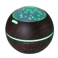 150ml Mini Aroma Essential Oil Diffuser Ultrasonic Air Humidifier With Wood Grain 7Color Changing LED Lights