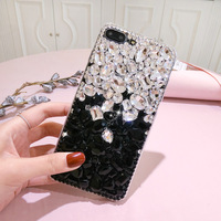Dower Me DIY Bling Double Colors Crystal Diamond Case Cover For Samsung Galaxy S9 8 7
