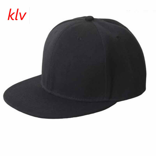 2017 KLV Famous Black Blank Plain Snapback Fitted Hats Sunscreen Hats  Hip-Hop Adjustable Bboy Baseball Cap Tops Hats Selling 0a462b3cba3f