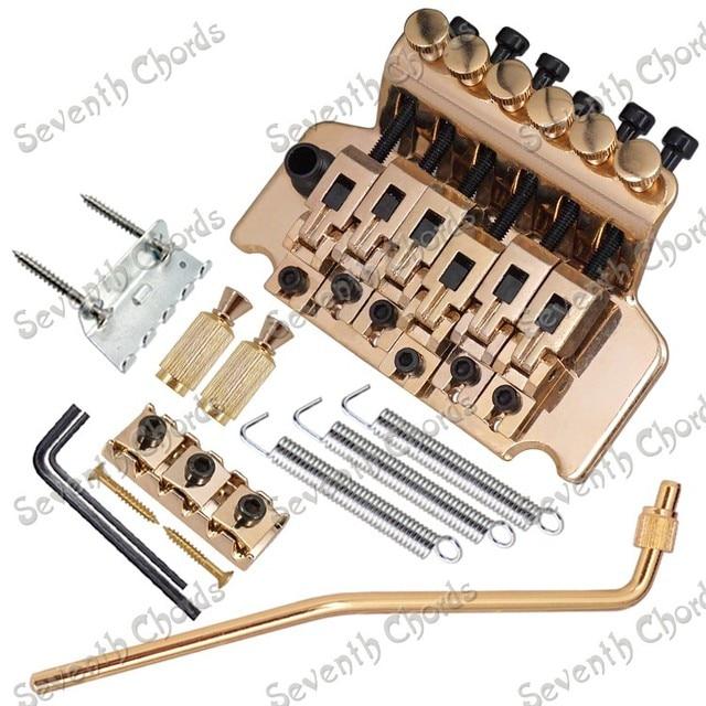 Gold C2 electric gutiar duplex shaking tremolo system/violin bridge ...