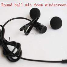 4pcs foam microphone windscreens round ball shape lavalier microphone sponge windshields ,5mm opening &15mm inner length