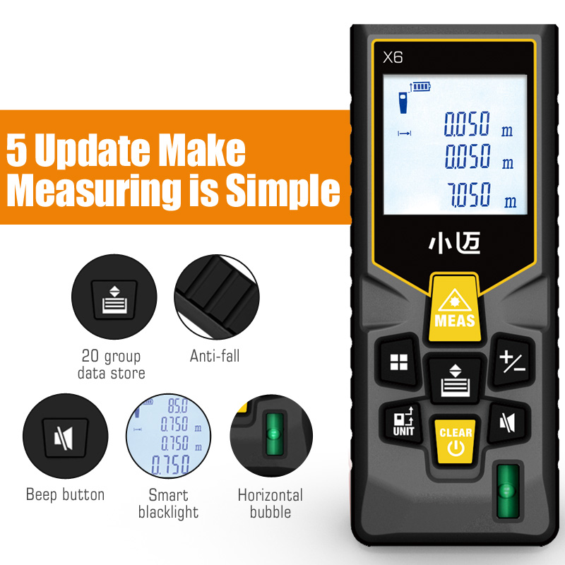 Image 3 - Mileseey Mini  laser distance Meter laser Tape measure Bubble Levels Diastimeter tool  Laser Rangefinder Distance-in Laser Rangefinders from Tools