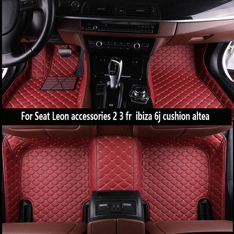2 Clip SEAT IBIZA 08 ON RUBBER DRIVERS FLOOR CAR MAT TAILORED