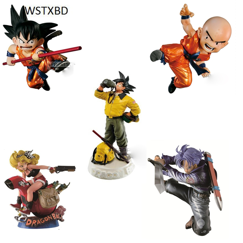 WSTXBD BANPRESTO Original Sculture Goku Krilin Lunch Trunks PVC Figure Toys Figurals Model Kids Dolls Special Edition electric lunch box double layer stainless steel liner cooking lunch boxes multifunction plug in lunch box steamed rice steamer