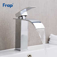 Frap Chrome Basin Faucet Deck Mount Waterfall Bathroom Faucet Vanity Vessel Sinks Mixer Tap Cold And Hot Water Tap Y10148