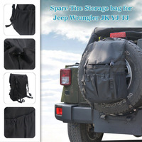 Chuang Qian Black Cargo Storage Bag Rear Spare Tire Backpack Stowing Tidying Kit for Jeep Wrangler JK 1996 2018 YJ TJ|Stowing Tidying|   -