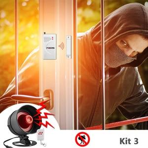 Image 3 - Система сигнализации Fuers, сирена, динамик, громкий звук, домашняя сигнализация, беспроводной детектор, система безопасности для дома, гаража