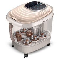 Fully Automatic Heating Foot Tub Electric Foot Massage Machine Footbath Bucket Instrument With Deep Barrel For