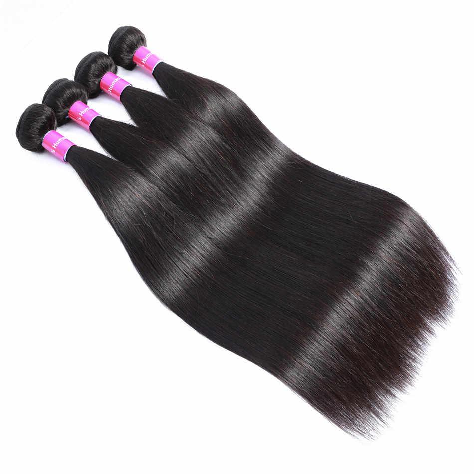 Прямые пучки волос с фронтальной горячей звездой бразильские человеческие волосы 3 пучка с фронтальной предварительно сорванной фронтальной с пучками Remy