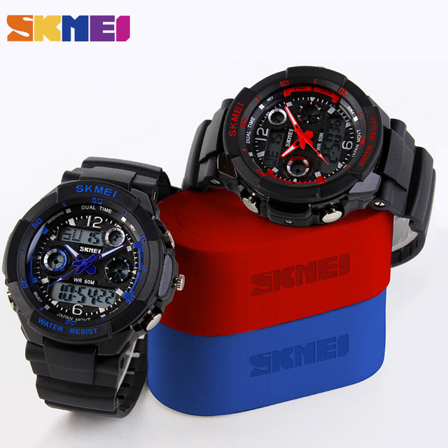 SKMEI Children Watches Sports Fashion LED Quartz Digital Watch Boys Girls Kids Watch Waterproof Wristwatches Kid Clock New 2019 6