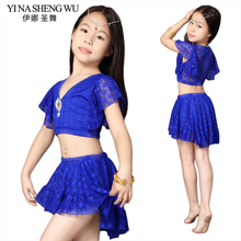 Belly Dance Suit New Children's Dance Clothes Girls Belly Dance Practice Costumes Children's Dance Performance Clothing 2pcs Set