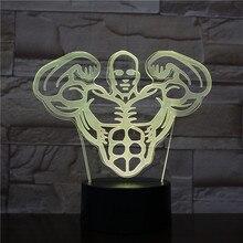 3d Table Lamp Hercules LED Night Light USB Touch Sensor Decorative 7 colors RGB Men Fitness Nightlight muscle Bedroom Decor