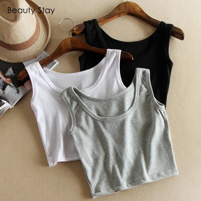 Beautystay 2018 Summer Women Sleeveless   Tank     Tops   Shirt Women Cropped   Top   Shirts Fashion Female Sexy Off Shoulder Vest   Top