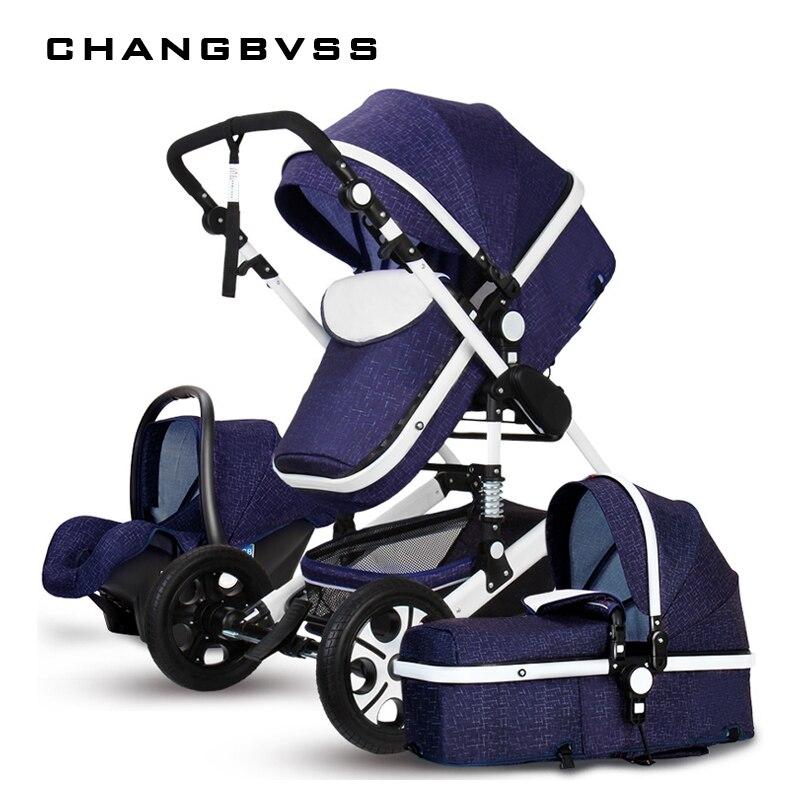 Новые детские коляски 3 в 1, коляски Детские коляски для новорожденных зонтик автомобиль, bebek arabasi, carrinho, kinderwagen, poussette, passeggino
