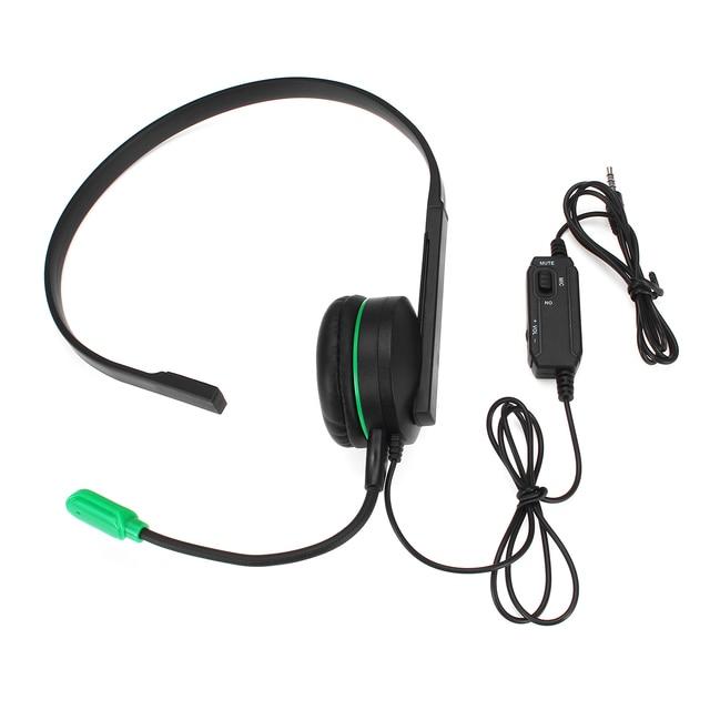 1x ゲーム用マイクヘッドホンで一方的なモノラルヘッドセット XBOX PS4 オフィス音声会議電話ドロップ無料