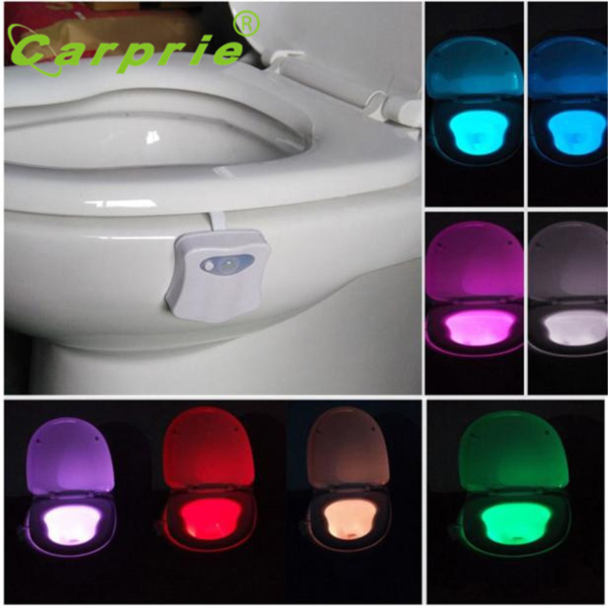 Lights & Lighting Alert Carprie Body Sensing Automatic Led Motion Sensor Night Lamp Toilet Light Bowl Bathroom L70309 Drop Ship Wide Varieties Professional Lighting