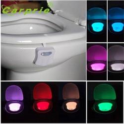 CARPRIE Body Sensing Automatic LED Motion Sensor Night Lamp Toilet Light Bowl Bathroom L70309 drop ship S30